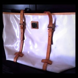 Coach White Patent  Bag, like Almost Mint